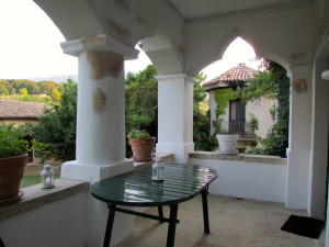 terrace with old moorish arches